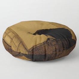 """Odilon Redon """"Le Corbeau (The Crow)"""" Floor Pillow"""
