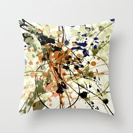 splash and leaves Throw Pillow