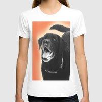 labrador T-shirts featuring Labrador Happy 2 by Jennifer Warmuth Art And Design