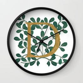 Forest Lite Letter D 2020 Wall Clock