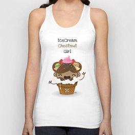 Ice Cream Chestnut Girl Unisex Tank Top