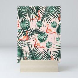 Tropical Flamingo Pattern #2 #tropical #decor #art #society6 Mini Art Print