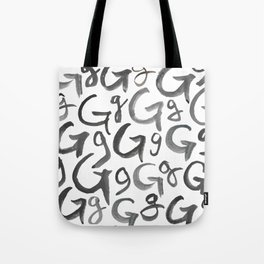 Watercolor G's - Grey Gray Tote Bag