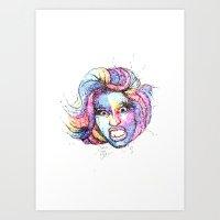 nicki Art Prints featuring Nicki by TREE