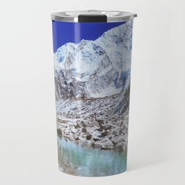 Mount Nuptse view and Mountain landscape view in Sagarmatha National Park, Nepal Himalaya. Travel Mug