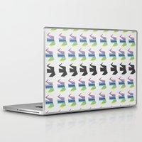 elephants Laptop & iPad Skins featuring Elephants by Elle Major