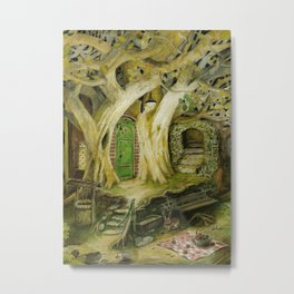 Underground Tree-House Metal Print