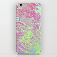 hologram iPhone & iPod Skins featuring Hologram Wave by michiko_design