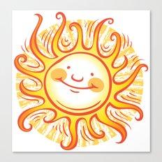Happy Sun Canvas Print