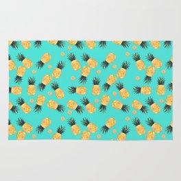 Tropical Pineapple Summer Pattern Rug