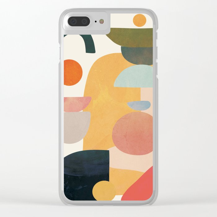 Modern Abstract Art 70 Clear iPhone Case