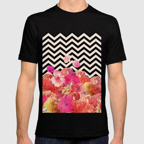 Chevron Flora II T-shirt