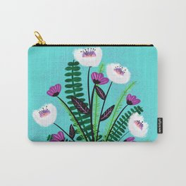 Green and Purple Bouquet Carry-All Pouch