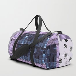texture for interior decoration purple . Artwork Duffle Bag