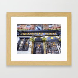 Greyfriars Bobby Pub edinburgh Framed Art Print