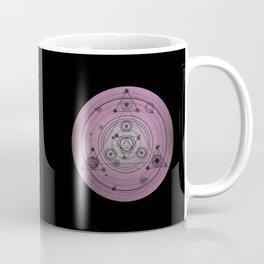 Pink mandala with alchemy symbols and distressed wiccan design Coffee Mug