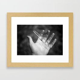 I once held you so close, but now you're just melting away.  Framed Art Print