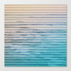Sunrise Ocean Stripes Canvas Print