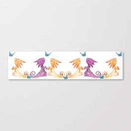baby dragons and butterflies Canvas Print