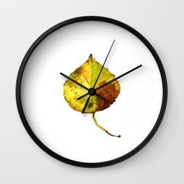 Aspen Leaf 2 Wall Clock