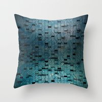 grid Throw Pillows featuring Grid by Tayler Smith