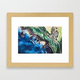 Coastal exploration Framed Art Print