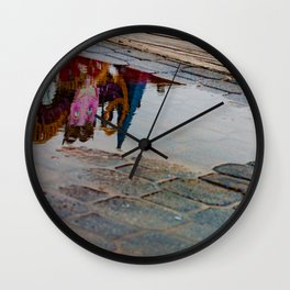 Reflection of the Street Water Wall Clock