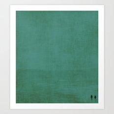 Together in blue Art Print