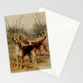 Earl, Maud (1864-1943) - The Power of the Dog 1910 (Foxhounds) Stationery Cards