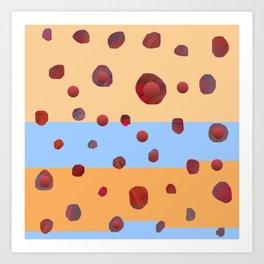 Red meteorites Art Print