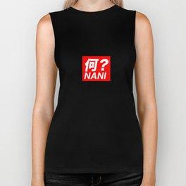 Omae Wa NANI? T-shirt Japanese Text Red Box Logo Biker Tank