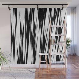 Zebra Strokes Wall Mural