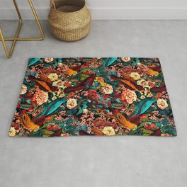 FLORAL AND BIRDS XVII Rug
