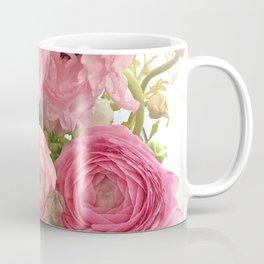 Shabby Chic Cottage Ranunculus Peonies Roses Floral Print Home Decor Coffee Mug