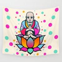buddha Wall Tapestries featuring BUDDHA by mark ashkenazi