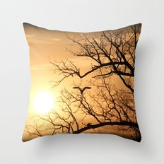 The Heron In The Evening Throw Pillow