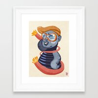 agnes Framed Art Prints featuring Agnes by gapinska