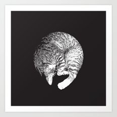 PURRFECT MOON Art Print