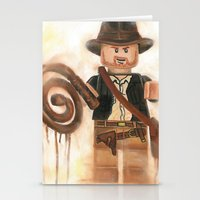indiana jones Stationery Cards featuring Indiana Jones Lego by Toys 'R' Art