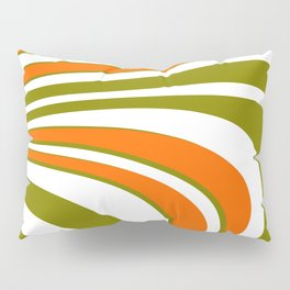 Abstract curvy Stripes Pillow Sham