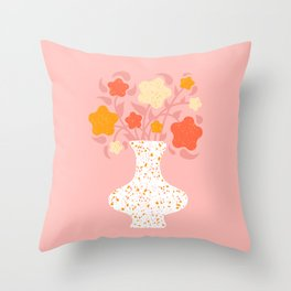 Speckled Floral #02 Throw Pillow