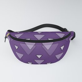 Geometric Triangles in Purple Fanny Pack