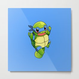 TMNT_POKET_MONSTER_BLUE Metal Print