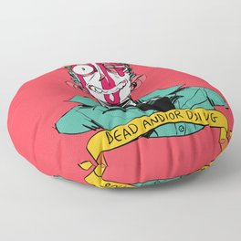 dead and/or dying Floor Pillow