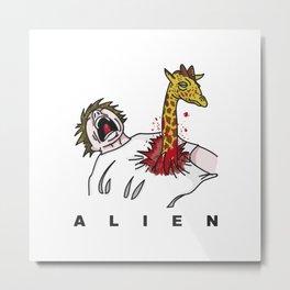 Alien Jirafa Metal Print