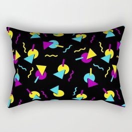 80s to the max on black Rectangular Pillow