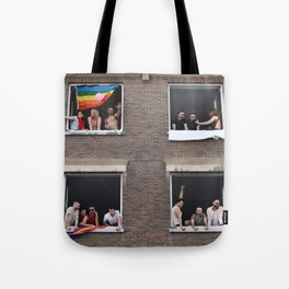 Watching the Pride Parade Tote Bag