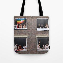Watching the Pride Parade Tote Bag