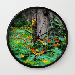 Stern Grove Flowers Wall Clock