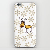 reindeer iPhone & iPod Skins featuring Reindeer by Mr and Mrs Quirynen